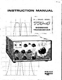 Servicio y Manual del usuario Drake TR-4