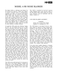 Service- und Bedienungsanleitung Drake 4-NB