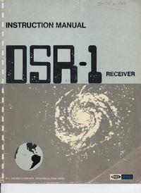 Service and User Manual Drake DSR-1