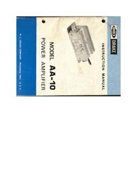 Serviço e Manual do Usuário Drake AA-10