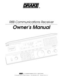 Manuale d'uso Drake R8B