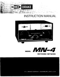 Service-en gebruikershandleiding Drake MN-4
