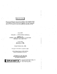 User Manual Dranetz 646-3