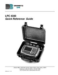 User Manual Dranetz LPC 4300