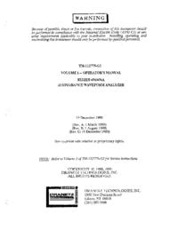 Manuale d'uso Dranetz 656A