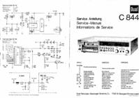manuel de réparation Dual C844
