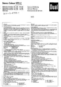 Руководство по техническому обслуживанию Dual TVM 4185