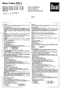 Service Manual Dual TV 1155