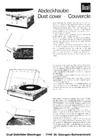 User Manual Dual Dust Cover