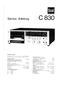 Service Manual Dual C 830