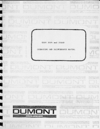 Service and User Manual Dumont 304AR