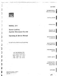 Serviço e Manual do Usuário EIP 371