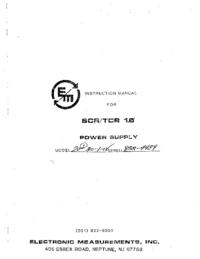 Servicio y Manual del usuario EMI SCR 1