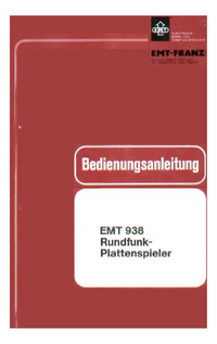Service and User Manual EMT 938
