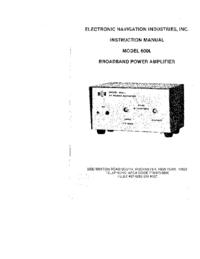 User Manual ENI 600L