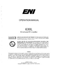 Manuel de l'utilisateur ENI 630L