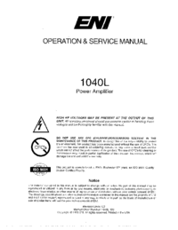 Serwis i User Manual ENI 1040L