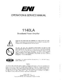 Bedienungsanleitung ENI 1140LA