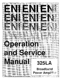 Servicio y Manual del usuario ENI 325LA