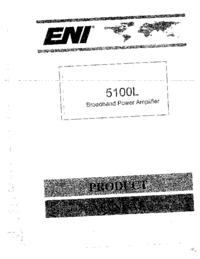 Service et Manuel de l'utilisateur ENI 5100L