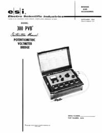 Servicio y Manual del usuario ESI 300 PVB