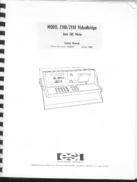 Service and User Manual ESI 2100