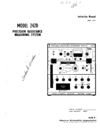 Service and User Manual ESI 240C