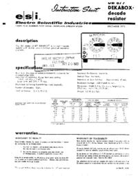 Fiche technique ESI DB 877