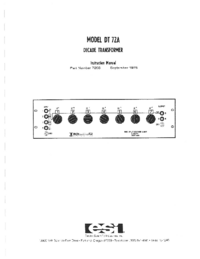 User Manual ESI DT 72A