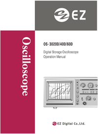User Manual EZDigital OS-3060D