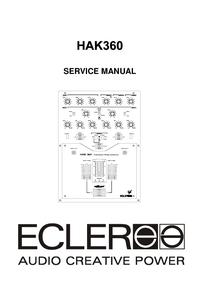 Manual de serviço Ecler HAK360