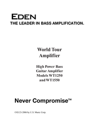 User Manual Eden WT1550