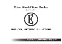 Manuel de l'utilisateur Eden WP100