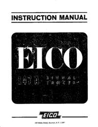 Service-en gebruikershandleiding Eico 147a