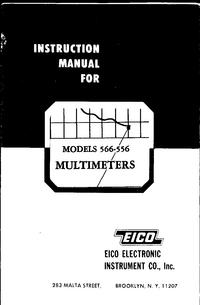 Обслуживание и Руководство пользователя Eico 566