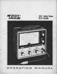 Service and User Manual Eico 242