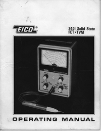 Service and User Manual Eico 240