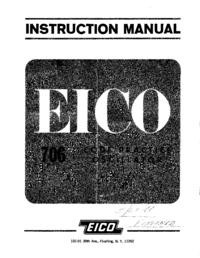 Service and User Manual Eico 706