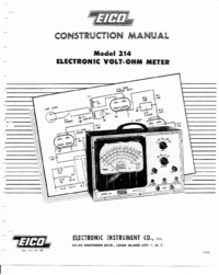 Servicio y Manual del usuario Eico 214