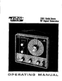 Service and User Manual Eico 330