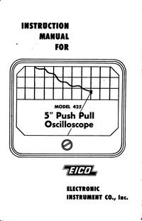 Service-en gebruikershandleiding Eico 425