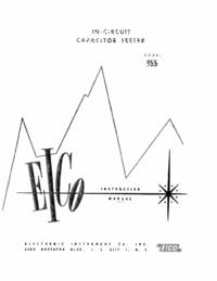 Servicio y Manual del usuario Eico 955