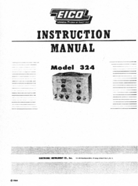 Servicio y Manual del usuario Eico 324
