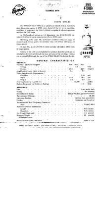 Dane techniczne Eimac 8166/4-1000A