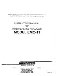 Manual do Usuário ElectroMetrics EMC-11