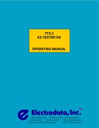Руководство пользователя Electrodata TTS 3