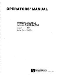 Servicio y Manual del usuario ElectronicDevelopmentCorporation 521