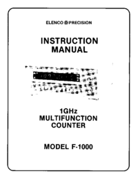 Serwis i User Manual Elenco F-1000