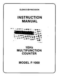 Servicio y Manual del usuario Elenco F-1000