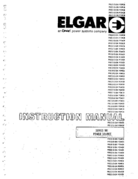 Servicio y Manual del usuario Elgar 501 Series